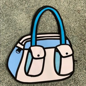 This is a carry on space 2D purse/bag.